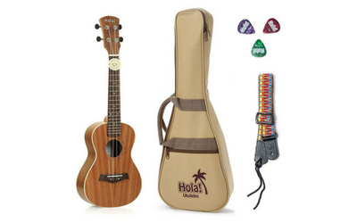 Concert Ukulele Bundle, Deluxe Series by Hola! Music