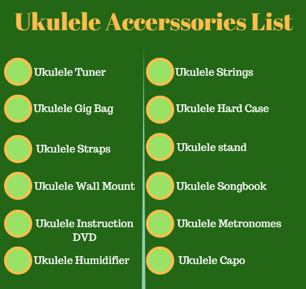 ukuleles accessories list