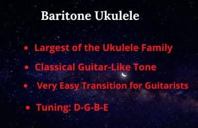 Baritone Ukulele Features