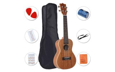 ADM Mahogany Concert Professional Ukulele Starter Pack