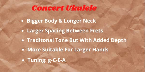 Concert Ukulele Features