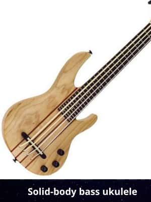 Solid-body bass ukulele