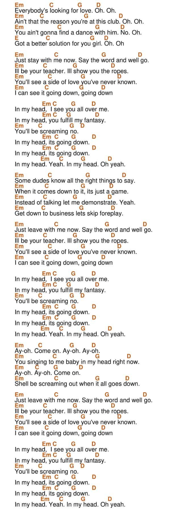 In My Head Ukulele Chords